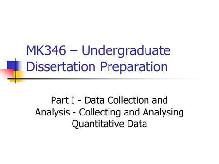 Write my undergrad dissertation