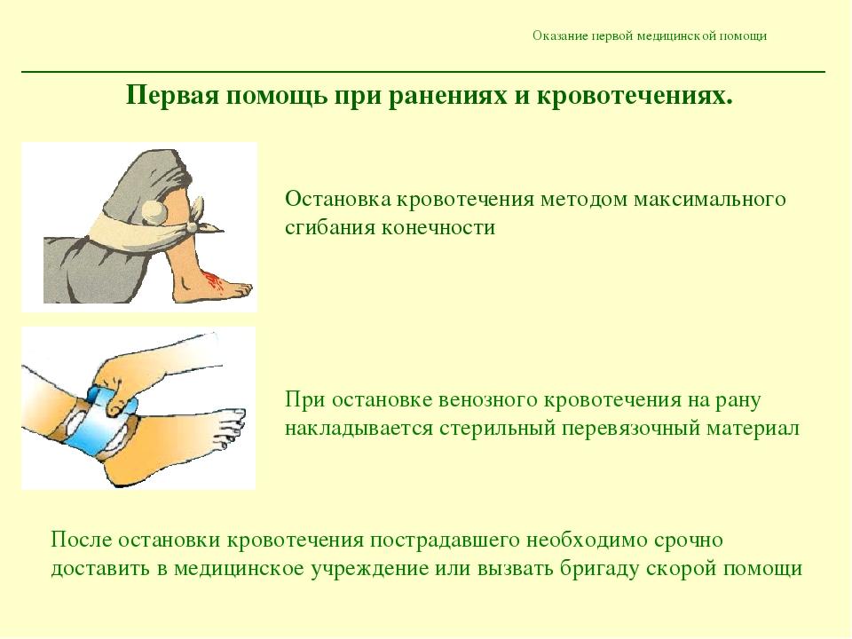 Первая медицинская помощь в природных условиях презентация