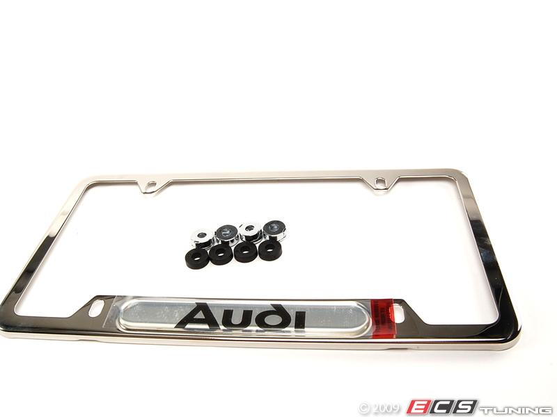 Audi a5 black license plate frame