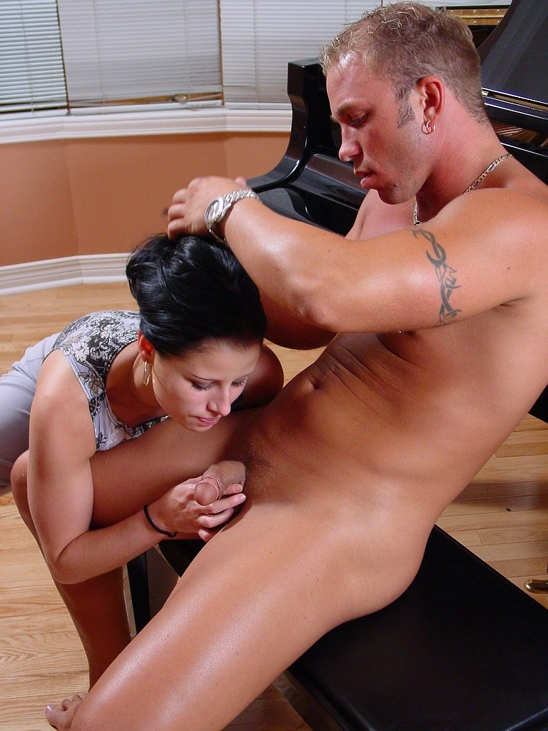 Dominant lesbian wife and cuckold husband