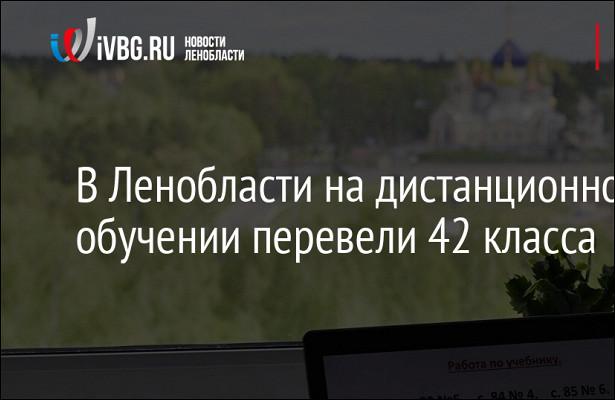 Коечный фонд Ленобласти подCOVID-19занят на67%