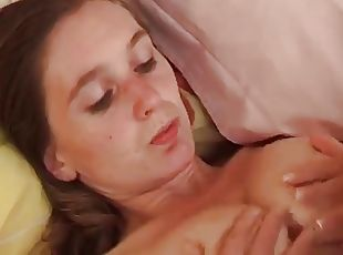 Female masturbating and handjob
