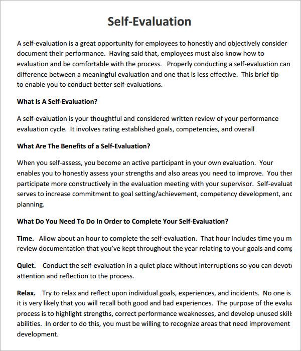 Write an evaluation essay