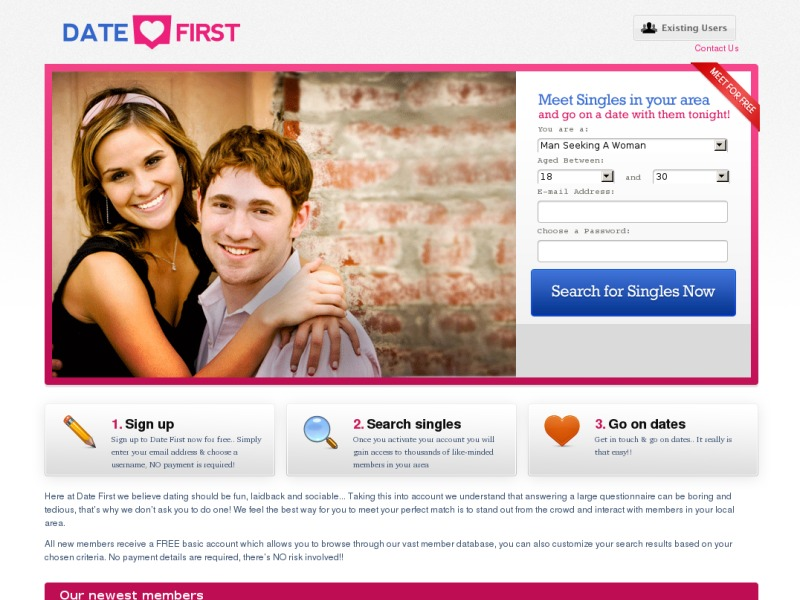 Dating site first date
