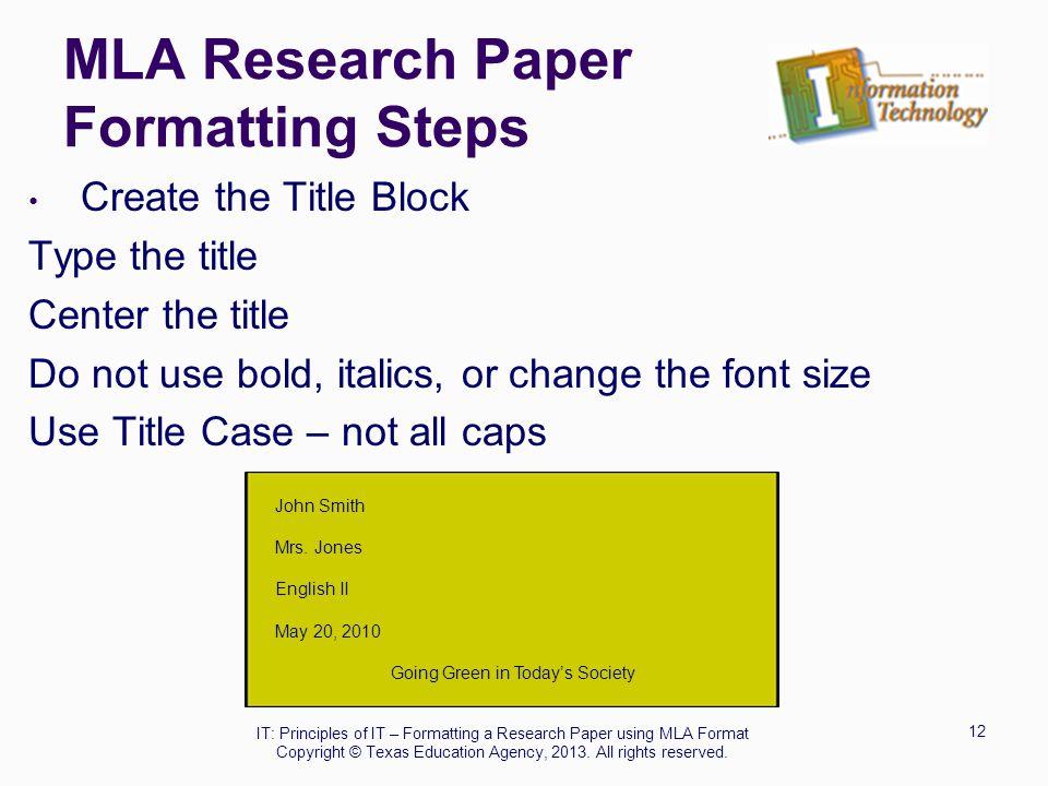 Buy English Paper Mla Format