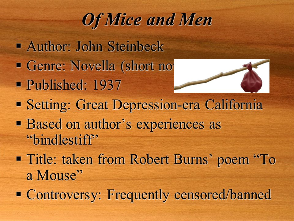 Of Mice and Men by John Steinbeck: Essay Writing by