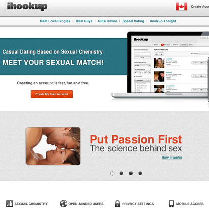 Online dating hookup app