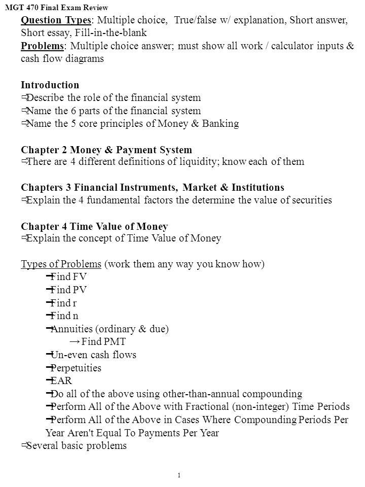 Short answer essay format