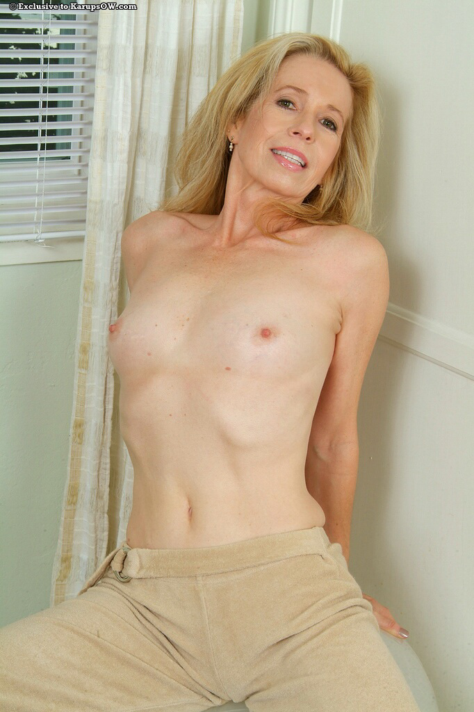 mature chested Skinny nude flat