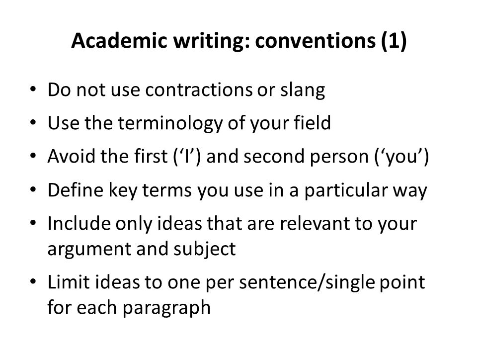 Write my academic writing conventions