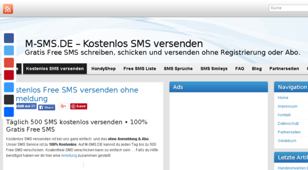 SMS versenden - SINGLE-CHATNET