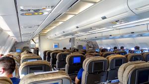 Пассажирка ударила мужа наглазах увсего самолета