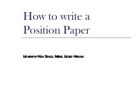 Write my writing a position paper mun