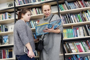 Жителей Вороновского пригласили посетить книжную выставку