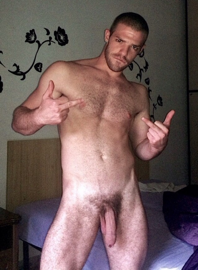 Sexy naked hairy penis right!