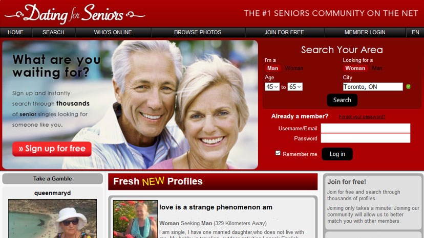 Dating for seniors sign in