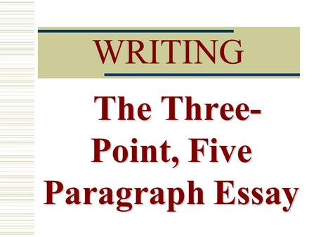 Perfect 5 paragraph essay