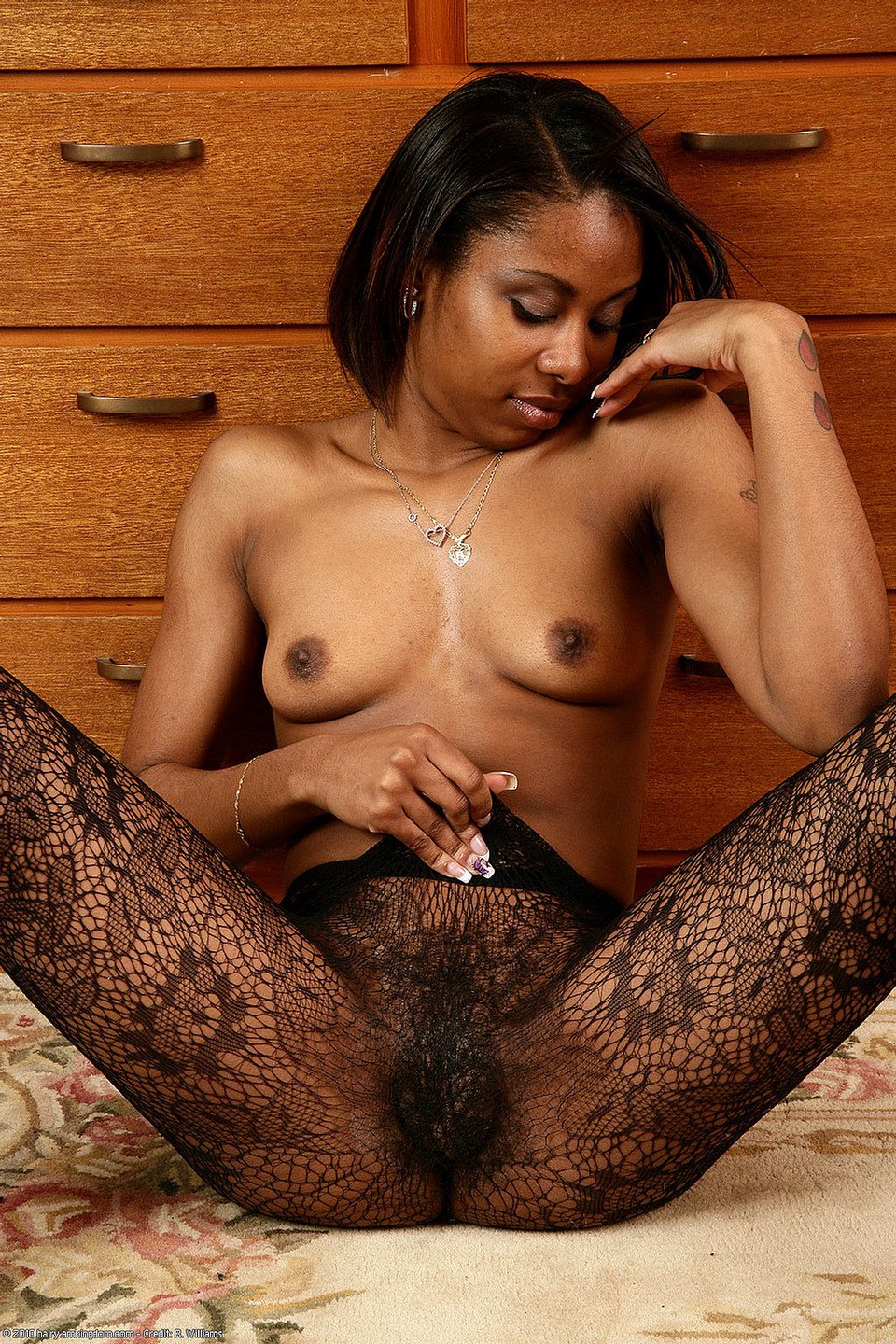 Black women hairy fat