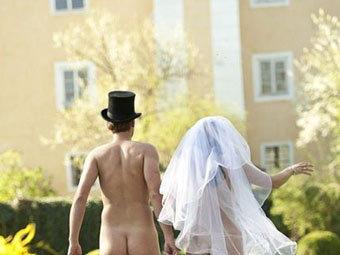 Австрийская пара поженилась голышом