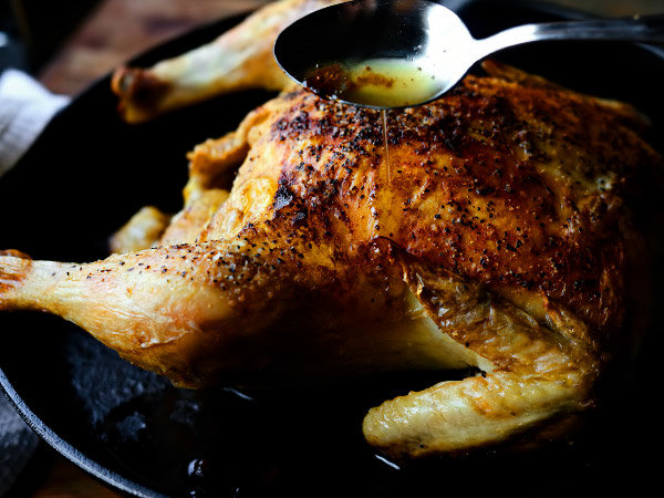 Курица в духовке целиком быстрый рецепт