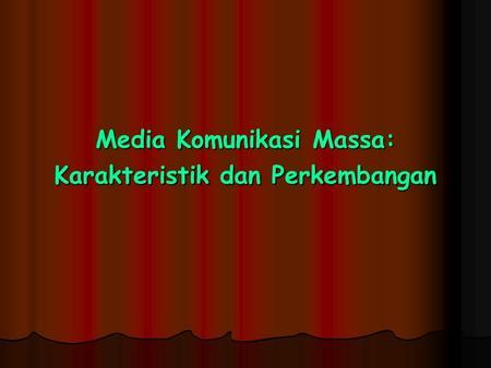 Buku Teori Komunikasi Massa Oleh Wiryanto - Download