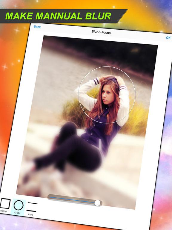 Manual blur photo editor
