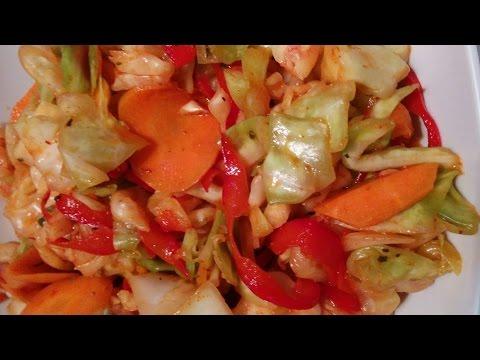 Рецепт быстрого приготовления капусты с маринадом