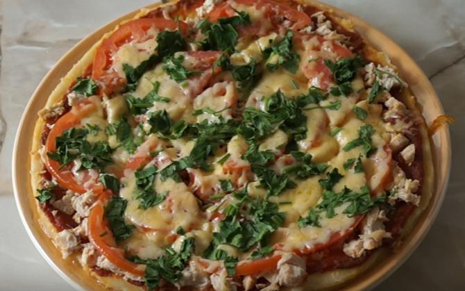 Рецепт быстрой бездрожжевой пиццы