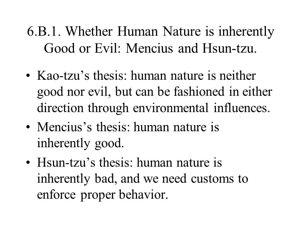 Human Nature - Sample Essays