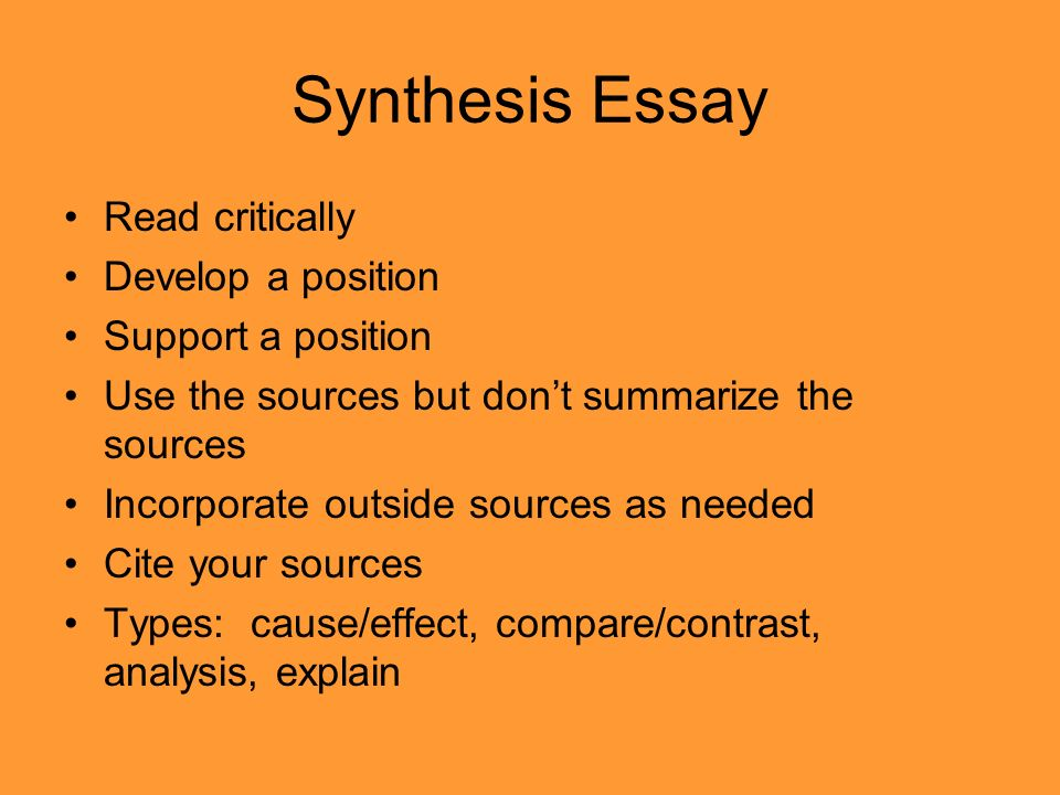 synthesis essay prompts