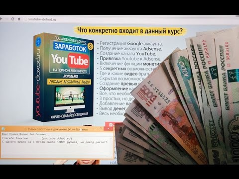 Как заработать деньги на youtube сидя дома