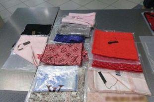 ВКрасноярске задержали туристов споддельными товарами известных брендов