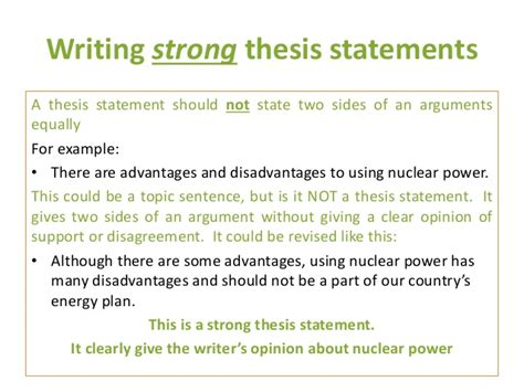 Write my easy thesis statements