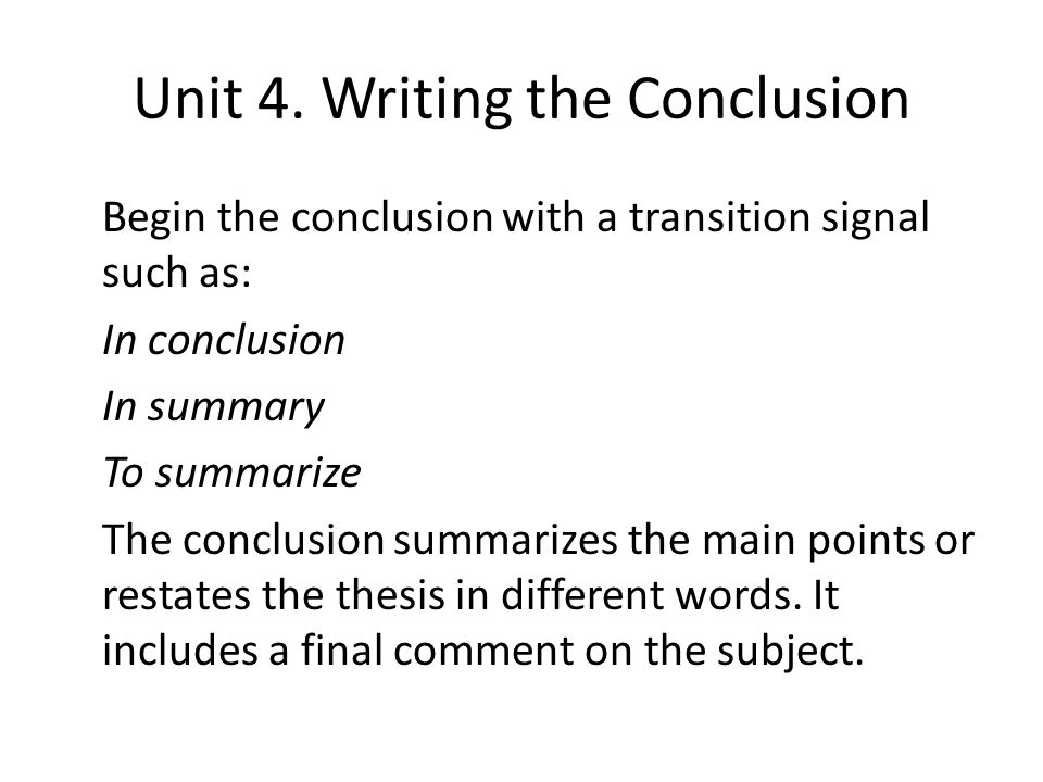 Write my thesis conclusion sample pdf