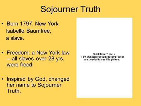 Sojourner Truth Critical Essays - eNotescom