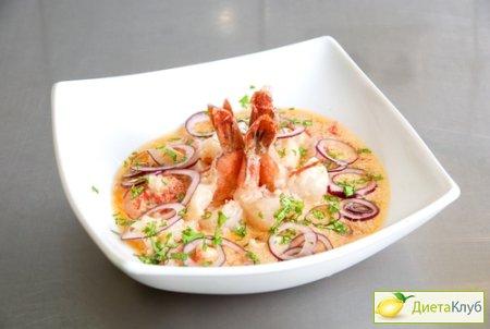 Креветки сливочном соусе рецепт фото