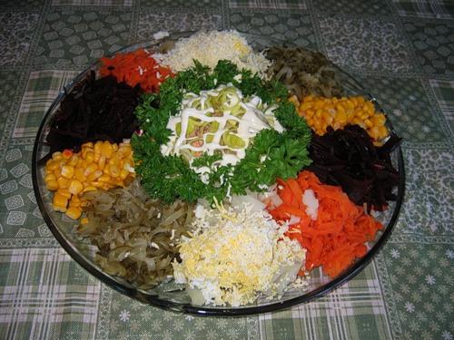 Салати святкові рецепти з фото купками