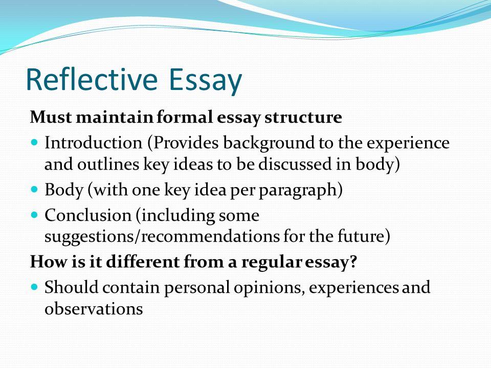 Reflective Essay Sample Paper Format - Write Online