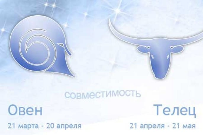 Гороскоп совместимости телец мужчи  и женщи