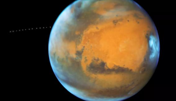 Наорбите Марса обнаружили фрагмент Луны