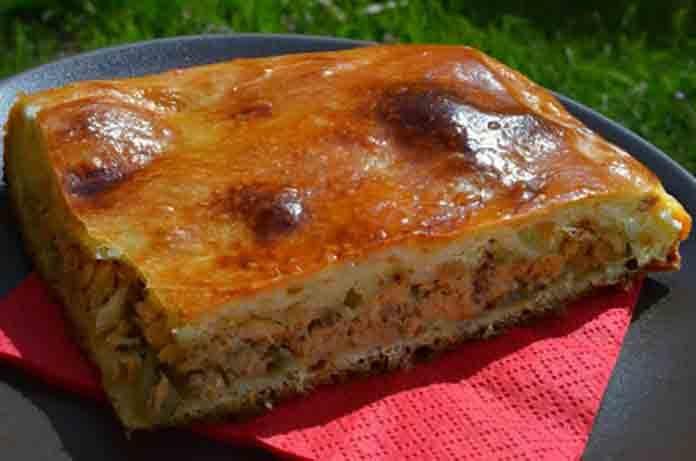 Быстрый пирог со скумбрией рецепт