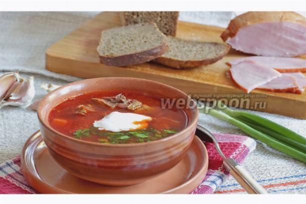 борщ рецепт приготовления с фото пошагово