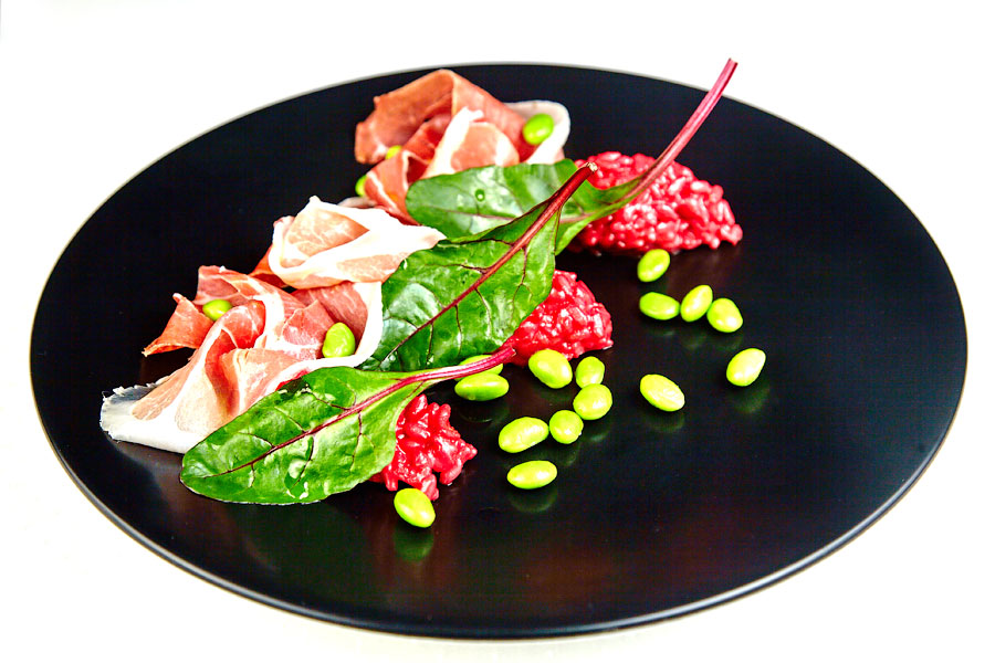 Ресторан Де Марко - фотография 10 - Свекольное ризотто Procciutto di parma