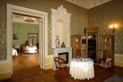 Ресторан Олимпия - фотография 3 - Каминный VIP-зал - один из красивейших залов особняка на 12-14 персон.