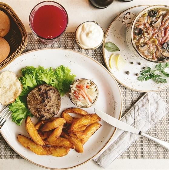 Ресторан Блин-клуб - фотография 10 - Ужин в Блин Клубе.