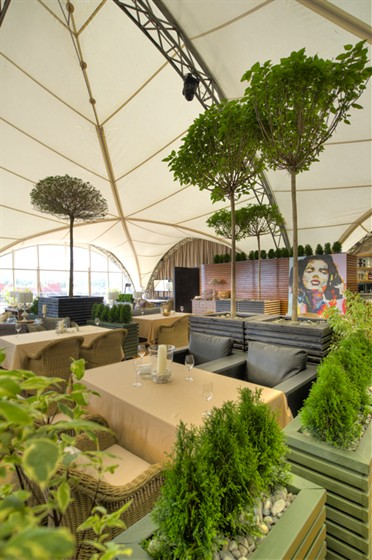 Ресторан Пирс - фотография 11 - интерьер шатра