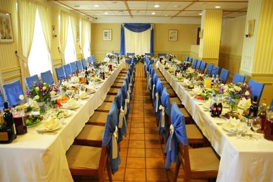 """Ресторан Стокгольм - фотография 3 - Зал для свадьбы, ресторан """"Стокгольм"""" в отеле Катерина Сити на Павелецкой"""