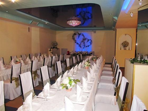 Ресторан У Сэма - фотография 4 - свадебная сервировка