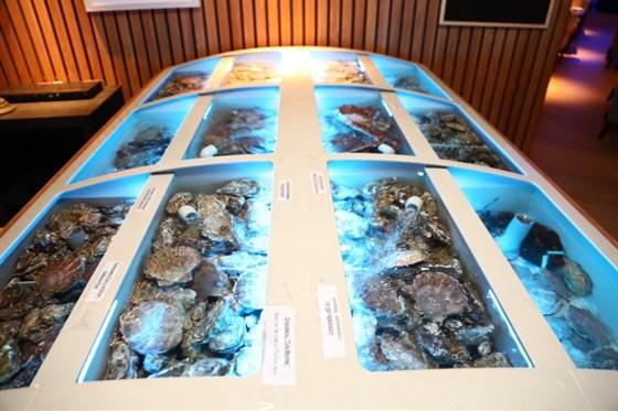 Ресторан St Tropez - фотография 7 - Морепродукты живут в аквариуме непосредственно в зале ресторана в большом ассортименте.