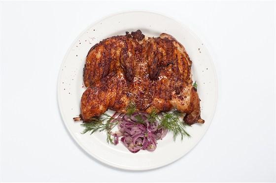 Ресторан Всякая всячина - фотография 8 - Цыпленок табака